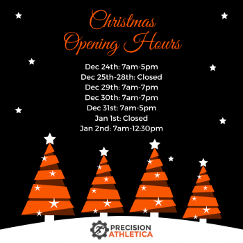 Precision Athletica Christmas Opening Hours